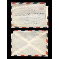 E)1986 FRANCE, AIR MAIL, METER STAMP, AIR MAIL, CLASSIC CIRCULATED COVER, CIRCUL