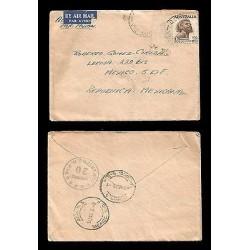 E)1958 AUSTRALIA, ABORIGINE, 226 A59, AIR MAIL, CIRCULATED COVER TO MEXICO D.F,