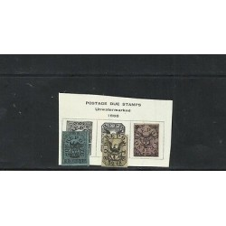 O) 1866 COLOMBIA, SOBREPORTE - POSTAGE DUE STAMPS, 25 C. BLACK BLUE, 50 C. BLACK