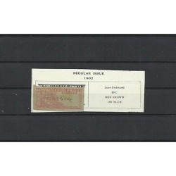 O) 1902 COLOMBIA, 20 C. RED BROWN, REGISTRATION STAMPS