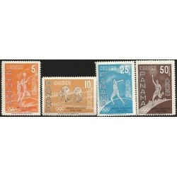 G)1960 PANAMA, OLYMPIC GAMES, ROME 1960, BASKETBALL-CYCLING-JAVELIN THROW-OLYMPI