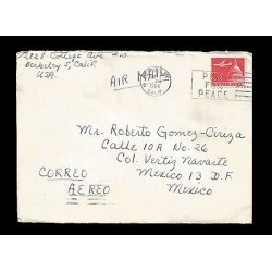 E)1964 UNITED STATES, AIRPLANE, CAPITOL, PRAY FOR PEACE, AIR MAIL, CIRCULATED CO