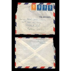 E)1952 NETHERLANDS, QUEEN JULIANA, 308 A76, 311 A76, AIR MAIL, CIRCULATED COVE