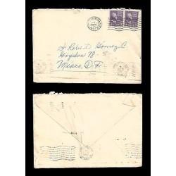 E)1951 UNITED STATES, PRESIDENT, THOMAS JEFFERSON, 3 CENTS VIOLET VALUE, PAIR O