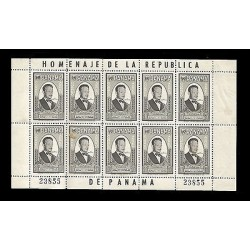 E)1961 PANAMA, DAG HAMMARSJOLD, UN SECRETARY GENERAL, SC C252 AP79, 10C VALUE