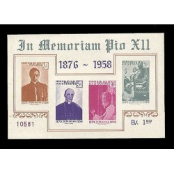 E)1958 PANAMA, IN MEMORIAM POPE PIO XII, RELIGION, CATHOLICISM, FAITH, CHURCH