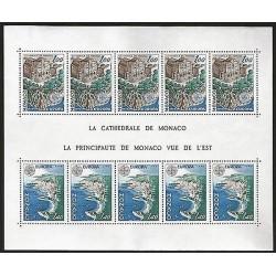 G)1978 MONACO, CEPT, MONACO CATHEDRAL, S/S 5 EA, MNH