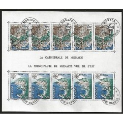 G)1978 MONACO, CEPT, MONACO CATHEDRAL, S/S 5 EA, CTO