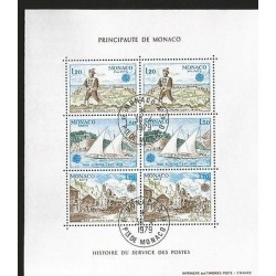 G)1979 MONACO, CEPT, POSTAGE DUES, ARMED MESSENGER-FELUCCA 18TH CENTURY-ARRIVAL