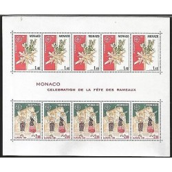 G)1981 MONACO, CEPT, PALM SUNDAY TRADITION, CROSS OF PALMS-CHILDREN WITH PALMS A