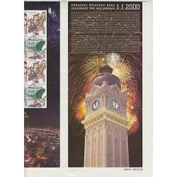 rO)2000 MALAYSIA, HERITAGE, CULTURE, EMBLEMS, TRAIN, CLOCK, CELEBRATE THE MILLEN