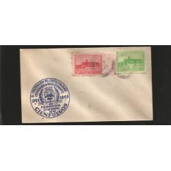 E)1949 CARIBBEAN, JAGUA CASTLE CIENFUEGOS, 433, 434, A152, FDC