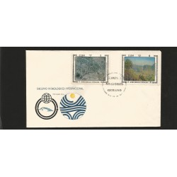 E)1972 CARIBBEAN, INTL. HYDROLOGICAL DECADE, LANDSCAPES, CYCLONE BY TIBURCIO LORENZO, VIANLES BY RAMOS, 1724, 1725, A449, FDC