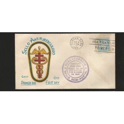 E)1949 CARIBEAN, TB SEALS, AS PT4—PT7, FDC
