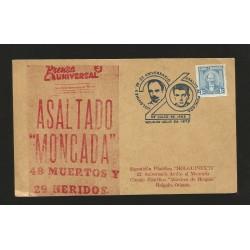 "E)1975 CARIBBEAN, JOSÉ MARTI, ""MONCADA"" ASSAULT, HOLGUINEX'75, 26 ANNIV. FANCY CANC. MARCOPHILIA"