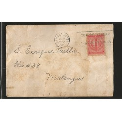 E)1945 CARIBBEAN TOBACCO-HABANO, CIRCULATED COVER TO MATANZAS, INTERNAL USAGE, G