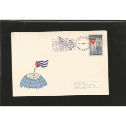 E)1973 CARIBBEAN, EMILIA TEURBE TOLON SEWING, CENTERARY OF ADOPTION OF CUBA'S FLAG, 460 A162, FANCY CANC. MARCOPHILIA