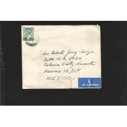 E)1964 GREAT BRITAIN, QUEEN ELIZABETH II, AIR MAIL, CIRCULATED COVER TO MEXICO, RARE DESTINATION, XF