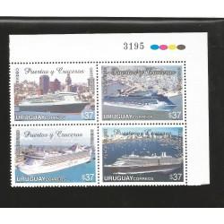 E)2006 URUGUAY, OCEAN LINERS AND PORTS, SHIPS, MARINE, A1195, SOUVENIR SHEET, MNH
