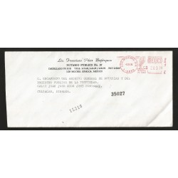 E)1994 MEXICO, METER STAMP, REGISTERED, CIRCULATED COVER FROM LOS MOCHIS TO CULIACAN-SINALOA, XF