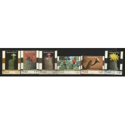 B)2001 PERU, FAUNA, FLOWERS, CACTIS, SET OF 6, SC 291-1296 A603, SOUVENIR SHEETS, MNH