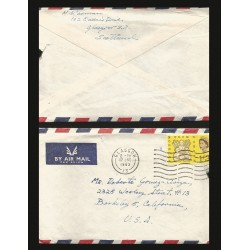 B)1963 SCOTLAND, QUEEN ELIZABETH, CHILDRENS, FREEDOM FOR HUNGER, AIRMAIL, CIRCULATED COVER FROM SCOTLAND TO USA, XF