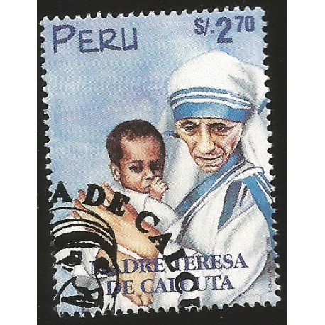 B)1998 PERU, RELIGION, CATHOLIC, MOTHER TERESA (1910-97), SC 1192 A531, SOUVENIR SHEET, MNH