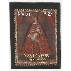 B)199 PERU, CATHOLIC, VIRGIN, RELIGION, VIRGIN OF BELEN, CHRISTMAS, SC 1248 A567, S/S MNH