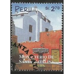 B)1999 PERU, CHURCH, BUILDING, ARCHITECTURE, SANTA CATALINA MONASTERY AREQUIPA, SC 1234 A557, S/S, MNH