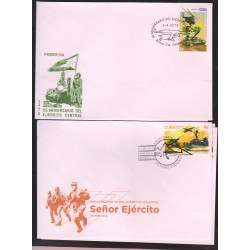 O) 2016 CARIBE, AIRSHIPS- HELICOPTER, TANK CAR, NAVAL SHIP, ARMY, FDC XF