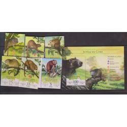 O) 2016 CARIBE, CARIBBEAN ANIMALS ENDANGERED - CAPROMYDAE - RODENT. JUTIA, SET MNH