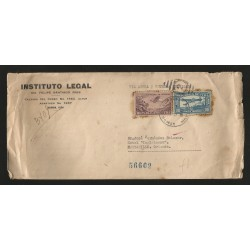 E)1933 CARIBBEAN, AIRPLANE, C12 AP4, AIR MAIL, CIRCULATED COVER, REGISTERED MAIL, TO MANZANILLO, INTERNAL USAGE, XF
