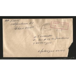 E)1976 CARIBBEAN, POSTAGE PREPAID, CLASSIC CIRCULATED COVER TO MATANZAS, INTERNAL USAGE, XF
