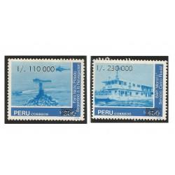 """B)1990 PERU, SECURITY TO NAVIGATION, BAP """"MORONA"""", RIVER, LIGHTHOUSE, SC 991-992 A422, S/S, MNH"""