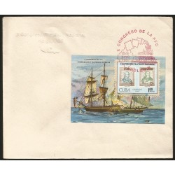 B)1987 CARIBBEAN, BOAT, SEA, STAMP, EXFILNA 87, 10TH NATIONAL. STAMP EXPOSITION, HOLGUIN, SC 2927 A814, CARD