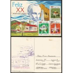 B)1973 CARIBE, SIBONEY FARM, MONCADA BAR-RACKS, REVOLUTION PLAZA,HAVANA, 20TH ANNIV. OF THE REVOLUTION, POSTCARD