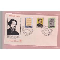 O) 1969 PERU, INCA GARCILASO DE LA VEGA -WRITER- HISTORIAN ORIGINS OF THE INCAS, FDC XF