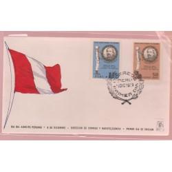 O) 1969 PERU, COLONEL FRANCISCO BOLOGNESI-MILITARY HERITAGE. LEADS THE BATTLES AYACUCHO, CUSCO, ARICA, FDC XF