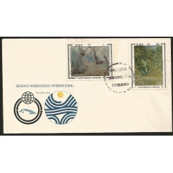B)1972 CARIBE, FOREST, INTL. HYDROLOGICAL DECADE, LANDSCAPES, TREE TRUNKS, FOREST AND BROOK, SC 1723 A449, FDC