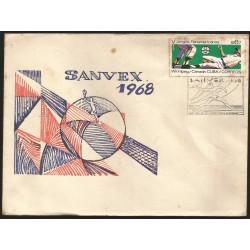 B)1967 CARIBE, BASEBALL, HORIZ,5TH PAN AMERICAN GAMES WINNIPEG, CANADA, SANVEX 68`, SC 1238 A349, FDC