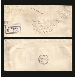 B)1994 CARIBE, CLASSIC CIRCULATED COVER TO CANDELARIA, REGISTERED MAIL, XF