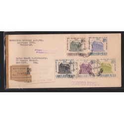 O) 1945 MEXICO, ARCHITECTURE, THEATER SAN LUIS POTOSI, COVER REGISTERED MEXIQUE UPU, XF