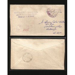 B)1994 CARIBE, OFFICE OF CONTROL AND CHARGES, CLASSIC, CIRCULATED COVER FROM MATANZAS, INTENAL USE, XF