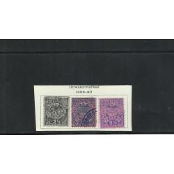 O) 1886 - 1892 COLOMBIA, LATE FEE STAMPS- RETARDO, 2 1/2 C. BLK LILAC, 2 1/2 DK BL ROSE, 2 1/2 ULTRAMARINE PINK, XF