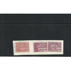 O) 1902 - 1903 COLOMBIA, IRON QUAY AT SABANILLA, 10 C. ROSE, 10 C. MAROON, 10 C. CLARET, XF