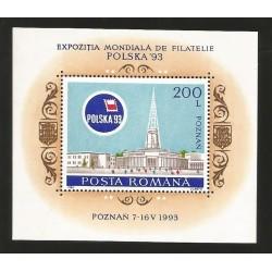 O) 1993 POLAND, ARCHITECTURE NEORROMANICO 1905-POZNAN -WORLD PHILATELY EXHIBITION - IMPERIAL PALACE ZAMEK, SOUVENIR MNH
