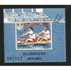 E)1992 ROMANIA, OLYMPIC GAMES BARCELONA'92, SOUVENIR SHEET, MNH