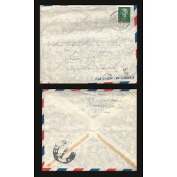 B)1952 NERDELAND, QUEEN JULIANA, SC 317 A76, CIRCULATED COVER FROM NERDELAND TO MEXICO, AIRMAIL, XF