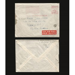 B)1986 FRANCE, METER STAMP COVER CIRCULATED FROM FRANCE TO MEXICO, AIRMAIL, XF