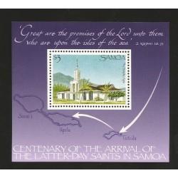 O) 1989 SAMOA, CHURCH APIA - GRAND TEMPLE, ARCHITECTURE, SOUVENIR MNH